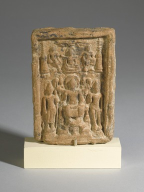Votive Plaque, 8th Century. Terracotta, 5 1/8 x 3 11/16 x 3/4 in. (13 x 9.3 x 2 cm). Brooklyn Museum, Gift of Georgia and Michael de Havenon, 82.233.5. Creative Commons-BY