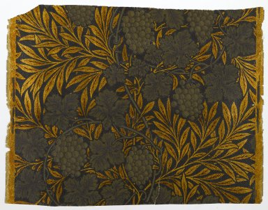 Morris & Company Ltd.. Wallpaper, Vine pattern, 1874. Paper, 17 3/4 x 22 3/4 in. (45.1 x 57.8 cm). Brooklyn Museum, Gift of Arlene M. and Thomas C. Ellis, 82.239.30