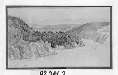 William Trost Richards (American, 1833-1905). Landscape. Watercolor and pencil on paper, Sheet: 7 7/16 x 11 3/4 in. (18.9 x 29.8 cm). Brooklyn Museum, Gift of Mr. and Mrs. Wilbur L. Ross, Jr., 82.246.2