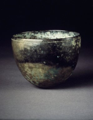 Cup, 13th-14th century. Bronze, Height: 2 1/4 in. (5.7 cm). Brooklyn Museum, Gift of F. Karel Wiest, 82.26. Creative Commons-BY