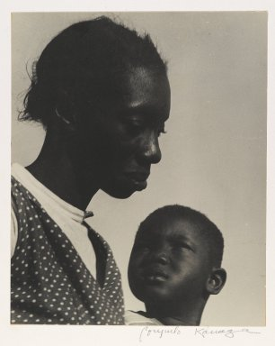 Consuelo Kanaga (American, 1894-1978). Mother and Son or The Question (Florida), 1950. Gelatin silver photograph, 9 1/2 x 7 3/4 in. (24.1 x 19.7 cm). Brooklyn Museum, Gift of Wallace B. Putnam from the Estate of Consuelo Kanaga, 82.65.13
