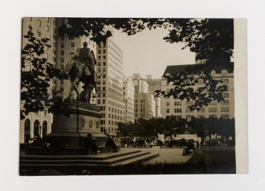 Consuelo Kanaga (American, 1894-1978). [Untitled] (Grand Army Plaza, NYC). Gelatin silver photograph, 3 3/4 x 5 3/8 in. (9.5 x 13.7 cm). Brooklyn Museum, Gift of Wallace B. Putnam from the Estate of Consuelo Kanaga, 82.65.141