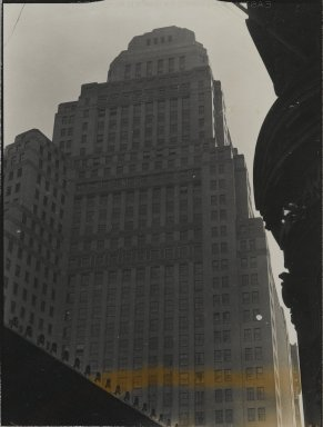 Consuelo Kanaga (American, 1894-1978). [Untitled] (Building in New York City). Gelatin silver photograph, 4 x 3 in. (10.2 x 7.6 cm). Brooklyn Museum, Gift of Wallace B. Putnam from the Estate of Consuelo Kanaga, 82.65.153