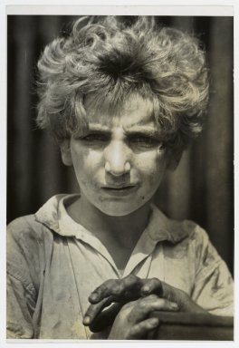 Consuelo Kanaga (American, 1894-1978). Poor Boy, New York, 1928. Gelatin silver photograph, 7 1/4 x 4 7/8 in. (18.4 x 12.4 cm). Brooklyn Museum, Gift of Wallace B. Putnam from the Estate of Consuelo Kanaga, 82.65.171