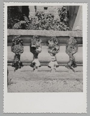 Consuelo Kanaga (American, 1894-1978). [Untitled] (Balustrade). Gelatin silver photograph, 4 5/8 x 3 3/8 in. (11.7 x 8.6 cm). Brooklyn Museum, Gift of Wallace B. Putnam from the Estate of Consuelo Kanaga, 82.65.172