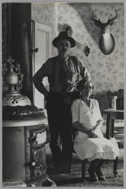 Consuelo Kanaga (American, 1894-1978). [Untitled] (Husband and Wife). Gelatin silver photograph, 6 x 4 in. (15.2 x 10.2 cm). Brooklyn Museum, Gift of Wallace B. Putnam from the Estate of Consuelo Kanaga, 82.65.174