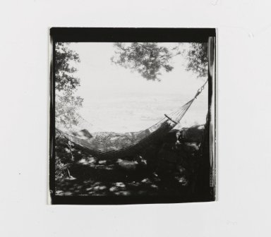Consuelo Kanaga (American, 1894-1978). [Untitled] (Hammock). Gelatin silver photograph, 2 1/2 x 2 3/8 in. (6.4 x 6 cm). Brooklyn Museum, Gift of Wallace B. Putnam from the Estate of Consuelo Kanaga, 82.65.176