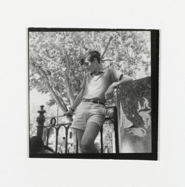 Consuelo Kanaga (American, 1894-1978). [Untitled] (Young Man). Gelatin silver photograph, 2 1/2 x 2 1/2 in. (6.4 x 6.4 cm). Brooklyn Museum, Gift of Wallace B. Putnam from the Estate of Consuelo Kanaga, 82.65.178