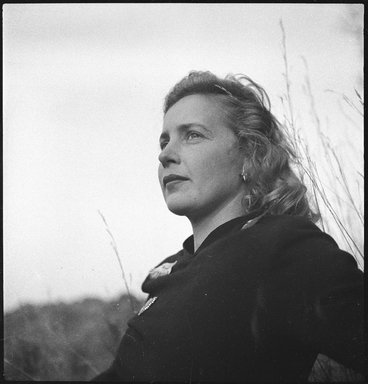 Consuelo Kanaga (American, 1894-1978). Margaret Wise Brown. Cellulose acetate negative, 5 x 2 1/2 in. (12.7 x 6.4 cm). Brooklyn Museum, Gift of Wallace B. Putnam from the Estate of Consuelo Kanaga, 82.65.1827a-b