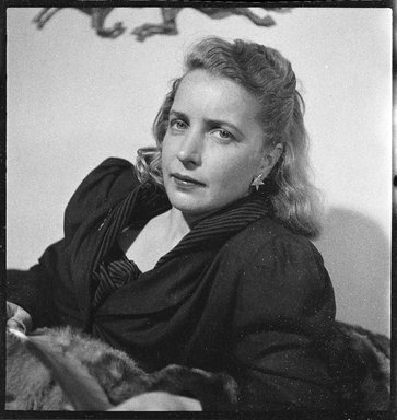 Consuelo Kanaga (American, 1894-1978). Margaret Wise Brown. Cellulose acetate negative, 2 1/2 x 2 1/2 in. (6.4 x 6.4 cm). Brooklyn Museum, Gift of Wallace B. Putnam from the Estate of Consuelo Kanaga, 82.65.1828