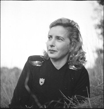 Consuelo Kanaga (American, 1894-1978). Margaret Wise Brown. Cellulose acetate negative, 2 3/8 x 2 3/8 in. (6 x 6 cm). Brooklyn Museum, Gift of Wallace B. Putnam from the Estate of Consuelo Kanaga, 82.65.1831