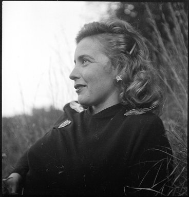 Consuelo Kanaga (American, 1894-1978). Margaret Wise Brown. Cellulose acetate negative, 2 3/8 x 2 3/8 in. (6 x 6 cm). Brooklyn Museum, Gift of Wallace B. Putnam from the Estate of Consuelo Kanaga, 82.65.1835