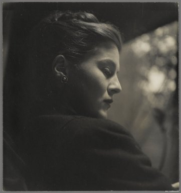 Consuelo Kanaga (American, 1894-1978). [Untitled] (Profile of a Young Woman). Gelatin silver photograph, 8 1/4 x 7 11/16 in. (21 x 19.5 cm). Brooklyn Museum, Gift of Wallace B. Putnam from the Estate of Consuelo Kanaga, 82.65.18