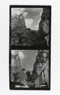 Consuelo Kanaga (American, 1894-1978). [Untitled] (Mountain Landscapes). Gelatin silver photograph, Contact sheet: 5 x 2 1/2 in. (12.7 x 6.4 cm). Brooklyn Museum, Gift of Wallace B. Putnam from the Estate of Consuelo Kanaga, 82.65.194