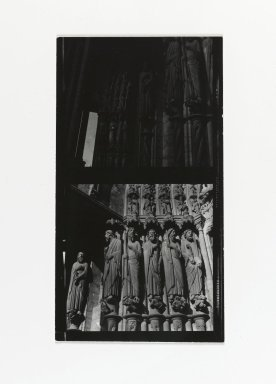 Consuelo Kanaga (American, 1894-1978). [Untitled] (Door Jamb Sculpture). Gelatin silver photograph, Contact sheet: 4 1/4 x 2 1/2 in. (10.8 x 6.4 cm). Brooklyn Museum, Gift of Wallace B. Putnam from the Estate of Consuelo Kanaga, 82.65.203