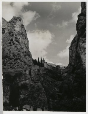 Consuelo Kanaga (American, 1894-1978). [Untitled] (Landscape), 1967. Gelatin silver photograph, 5 3/8 x 4 3/8 in. (13.7 x 11.1 cm). Brooklyn Museum, Gift of Wallace B. Putnam from the Estate of Consuelo Kanaga, 82.65.204