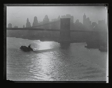Consuelo Kanaga (American, 1894-1978). [Untitled] (Brooklyn Bridge), 1922-1924. Gelatin silver photograph, 4 x 5 in. (10.2 x 12.7 cm). Brooklyn Museum, Gift of Wallace B. Putnam from the Estate of Consuelo Kanaga, 82.65.208