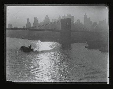 Consuelo Kanaga (American, 1894-1978). [Untitled] (Brooklyn Bridge), 1922-1924. Gelatin silver photograph, 4 x 5 in. (10.2 x 12.7 cm). Brooklyn Museum, Gift of Wallace B. Putnam from the Estate of Consuelo Kanaga, 82.65.208