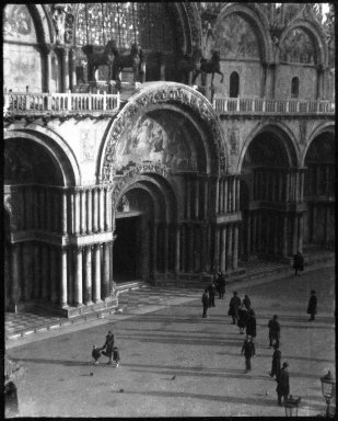 Consuelo Kanaga (American, 1894-1978). [Untitled] (Piazza San Marco, Venice), 1927. Negative, Negative: 3 3/8 x 4 1/4 in. (8.6 x 10.8 cm). Brooklyn Museum, Gift of Wallace B. Putnam from the Estate of Consuelo Kanaga, 82.65.2146