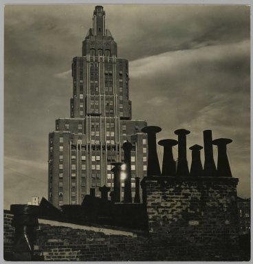 Consuelo Kanaga (American, 1894-1978). [Untitled] (8th Street Rooftop). Gelatin silver photograph, 6 1/8 x 5 7/8 in. (15.6 x 14.9 cm). Brooklyn Museum, Gift of Wallace B. Putnam from the Estate of Consuelo Kanaga, 82.65.222