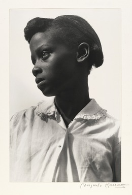 Consuelo Kanaga (American, 1894-1978). Young Girl (White Blouse), Tennessee, 1948. Toned gelatin silver photograph, Image: 10 5/8 x 6 7/8 in. (27 x 17.5 cm). Brooklyn Museum, Gift of Wallace B. Putnam from the Estate of Consuelo Kanaga, 82.65.2232
