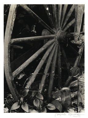 Consuelo Kanaga (American, 1894-1978). [Untitled] (Wagon Wheel). Gelatin silver photograph, 9 1/2 x 7 in. (24.1 x 17.8 cm). Brooklyn Museum, Gift of Wallace B. Putnam from the Estate of Consuelo Kanaga, 82.65.2240