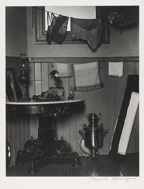 Consuelo Kanaga (American, 1894-1978). San Francisco Kitchen, 1930. Gelatin silver photograph, 9 3/4 x 7 5/8 in. (24.8 x 19.4 cm). Brooklyn Museum, Gift of Wallace B. Putnam from the Estate of Consuelo Kanaga, 82.65.2242