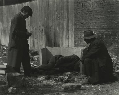 Consuelo Kanaga (American, 1894-1978). [Untitled] (Caring for Sick Friend). Toned gelatin silver photograph, 9 1/2 x 11 7/8 in. (24.1 x 30.2 cm). Brooklyn Museum, Gift of Wallace B. Putnam from the Estate of Consuelo Kanaga, 82.65.2247