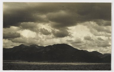 Consuelo Kanaga (American, 1894-1978). [Untitled] (Landscape Near Taos, New Mexico). Gelatin silver photograph, 4 1/2 x 7 1/8 in. (11.4 x 18.1 cm). Brooklyn Museum, Gift of Wallace B. Putnam from the Estate of Consuelo Kanaga, 82.65.225