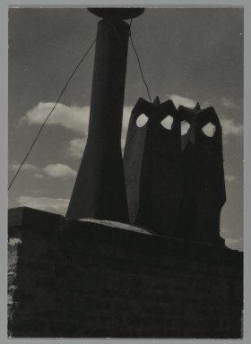Consuelo Kanaga (American, 1894-1978). [Untitled] (Chimneys). Gelatin silver photograph, 4 1/8 x 3 in. (10.5 x 7.6 cm). Brooklyn Museum, Gift of Wallace B. Putnam from the Estate of Consuelo Kanaga, 82.65.231