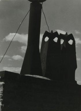 Consuelo Kanaga (American, 1894-1978). [Untitled] (Chimneys). Gelatin silver photograph, 9 3/4 x 7 1/8 in. (24.8 x 18.1 cm). Brooklyn Museum, Gift of Wallace B. Putnam from the Estate of Consuelo Kanaga, 82.65.232