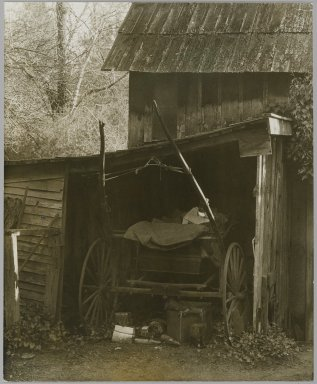 [Untitled] (Carriage in Barn)