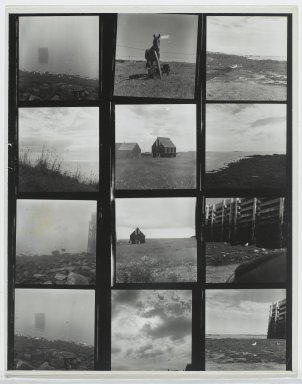 Consuelo Kanaga (American, 1894-1978). [Untitled] (Grand Manan island). Gelatin silver photograph, Contact of 12 images, each: 2 1/4 x 2 1/4 in. (5.7 x 5.7 cm). Brooklyn Museum, Gift of Wallace B. Putnam from the Estate of Consuelo Kanaga, 82.65.236