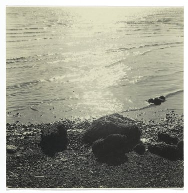Consuelo Kanaga (American, 1894-1978). [Untitled] (Seascape). Gelatin silver photograph, 3 1/2 x 3 1/2 in. (8.9 x 8.9 cm). Brooklyn Museum, Gift of Wallace B. Putnam from the Estate of Consuelo Kanaga, 82.65.248