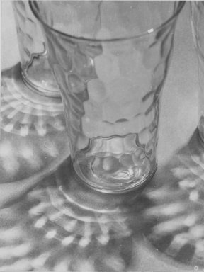 Consuelo Kanaga (American, 1894-1978). Glasses and Reflections, 1948. Gelatin silver photograph, 4 3/4 x 3 5/8 in. (12.1 x 9.2 cm). Brooklyn Museum, Gift of Wallace B. Putnam from the Estate of Consuelo Kanaga, 82.65.24