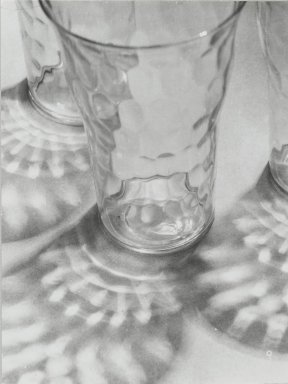 Consuelo Kanaga (American, 1894-1978). [Untitled] (Glasses and Reflections). Gelatin silver photograph, 4 3/4 x 3 5/8 in. (12.1 x 9.2 cm). Brooklyn Museum, Gift of Wallace B. Putnam from the Estate of Consuelo Kanaga, 82.65.25