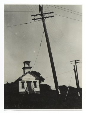 Consuelo Kanaga (American, 1894-1978). [Untitled] (Schoolhouse). Gelatin silver photograph, 4 1/2 x 3 3/8 in. (11.4 x 8.6 cm). Brooklyn Museum, Gift of Wallace B. Putnam from the Estate of Consuelo Kanaga, 82.65.270