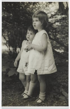 Consuelo Kanaga (American, 1894-1978). [Untitled] (Brother and Sister). Gelatin silver photograph, 6 3/4 x 4 3/8 in. (17.1 x 11.1 cm). Brooklyn Museum, Gift of Wallace B. Putnam from the Estate of Consuelo Kanaga, 82.65.295