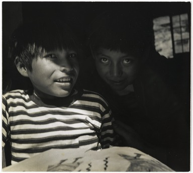 Consuelo Kanaga (American, 1894-1978). [Untitled] (Navajo Boys). Gelatin silver photograph, 7 3/4 x 8 3/4 in. (19.7 x 22.2 cm). Brooklyn Museum, Gift of Wallace B. Putnam from the Estate of Consuelo Kanaga, 82.65.298