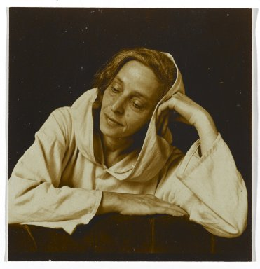 Consuelo Kanaga (American, 1894-1978). Portrait of a Woman. Toned gelatin silver photograph, 2 3/8 x 2 1/4 in. (6 x 5.7 cm). Brooklyn Museum, Gift of Wallace B. Putnam from the Estate of Consuelo Kanaga, 82.65.303