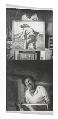 Consuelo Kanaga (American, 1894-1978). [Untitled] (Swedish Painter in La Coste, France). Gelatin silver photograph, 4 3/4 x 2 1/4 in. (12.1 x 5.7 cm). Brooklyn Museum, Gift of Wallace B. Putnam from the Estate of Consuelo Kanaga, 82.65.305