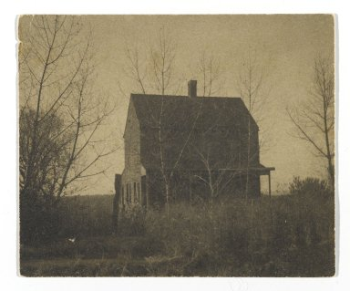 Consuelo Kanaga (American, 1894-1978). [Untitled] (Farmhouse). Gelatin silver photograph, 2 7/8 x 3 1/2 in. (7.3 x 8.9 cm). Brooklyn Museum, Gift of Wallace B. Putnam from the Estate of Consuelo Kanaga, 82.65.325