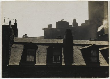 Consuelo Kanaga (American, 1894-1978). [Untitled] (City Roofs). Gelatin silver photograph, Image: 2 13/16 x 3 7/8in. (7.1 x 9.8cm). Brooklyn Museum, Gift of Wallace B. Putnam from the Estate of Consuelo Kanaga, 82.65.331