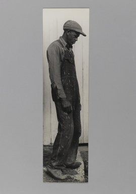 Consuelo Kanaga (American, 1894-1978). [Untitled]. Gelatin silver photograph, 13 5/8 x 3 3/4 in. (34.6 x 9.5 cm). Brooklyn Museum, Gift of Wallace B. Putnam from the Estate of Consuelo Kanaga, 82.65.363