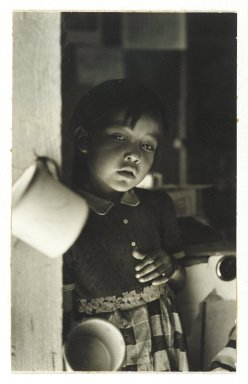Consuelo Kanaga (American, 1894-1978). [Untitled] (Native American Child, New Mexico), 1950s. Toned gelatin silver photograph, 7 1/2 x 4 5/8in. (19.1 x 11.7cm). Brooklyn Museum, Gift of Wallace B. Putnam from the Estate of Consuelo Kanaga, 82.65.369