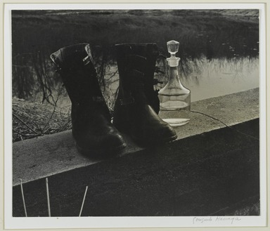 Consuelo Kanaga (American, 1894-1978). [Untitled] (Boots by the Pond). Gelatin silver photograph, 10 5/8 x 12 5/8 in. (27 x 32.1 cm). Brooklyn Museum, Gift of Wallace B. Putnam from the Estate of Consuelo Kanaga, 82.65.376