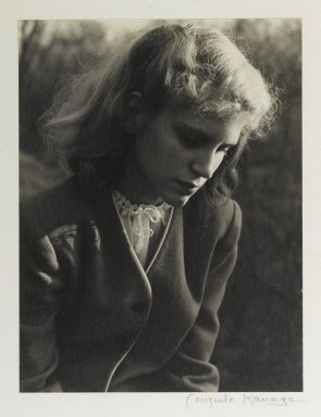 Consuelo Kanaga (American, 1894-1978). [Untitled] (Carol Koch). Toned gelatin silver photograph, 9 7/8 x 7 1/2 in. (25.1 x 19.1 cm). Brooklyn Museum, Gift of Wallace B. Putnam from the Estate of Consuelo Kanaga, 82.65.380