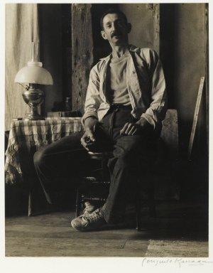 Consuelo Kanaga (American, 1894-1978). Morris Kantor, 1938. Toned gelatin silver photograph, 9 3/8 x 7 1/2 in. (23.8 x 19.1 cm). Brooklyn Museum, Gift of Wallace B. Putnam from the Estate of Consuelo Kanaga, 82.65.384