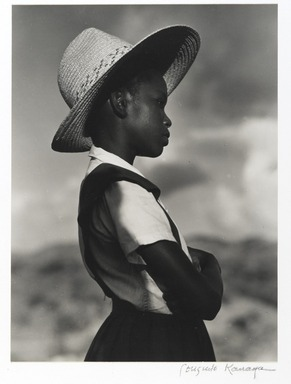 Consuelo Kanaga (American, 1894-1978). School Girl,  St. Croix, 1963. Gelatin silver photograph, Image: 9 3/8 x 7 in. (23.8 x 17.8 cm). Brooklyn Museum, Gift of Wallace B. Putnam from the Estate of Consuelo Kanaga, 82.65.407