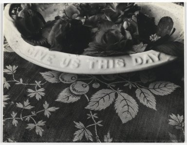 Consuelo Kanaga (American, 1894-1978). [Untitled] (Bowl of Flowers). Gelatin silver photograph, 3 1/2 x 4 3/4 in. (8.9 x 12.1 cm). Brooklyn Museum, Gift of Wallace B. Putnam from the Estate of Consuelo Kanaga, 82.65.415